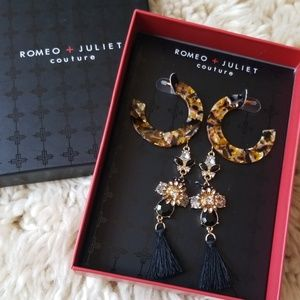 NEW! Romeo & Juliet Couture 2 Pairs Earrings Set